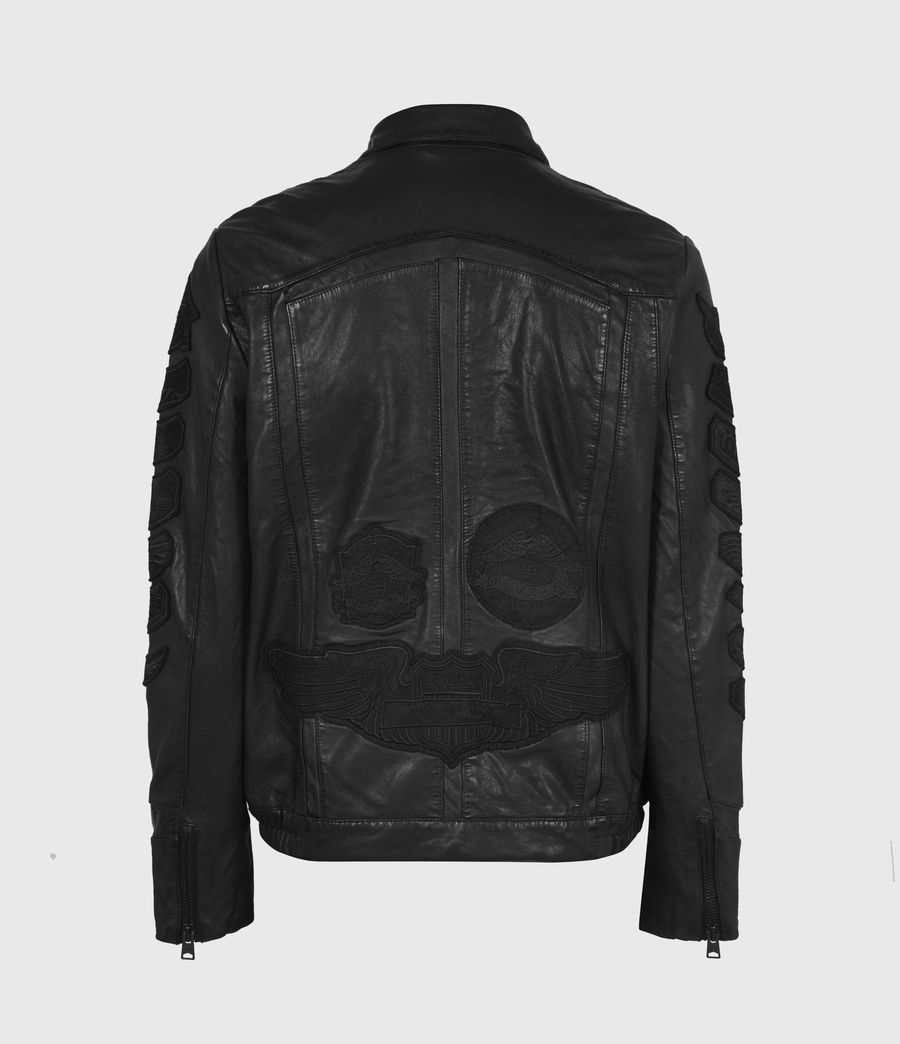 Mens Harley Leather Jacket (black) - Image 3