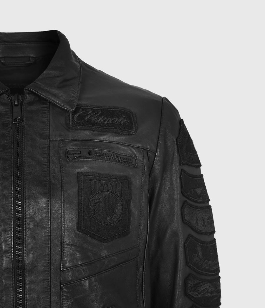 Mens Harley Leather Jacket (black) - Image 5