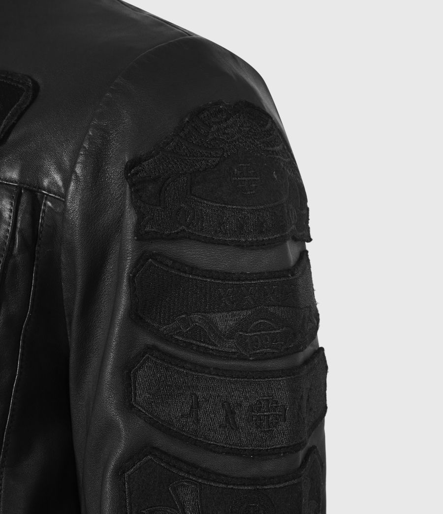 Mens Harley Leather Jacket (black) - Image 6