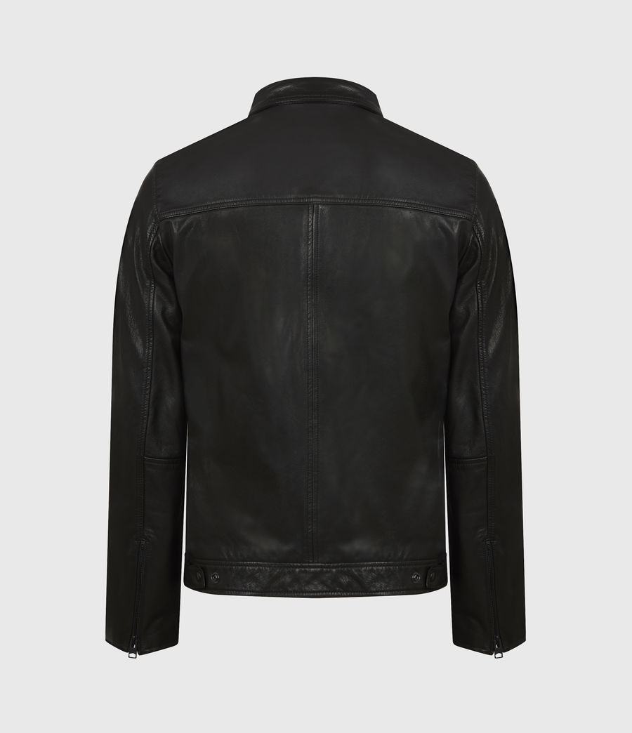 Men's Timo Leather Jacket (black) - Image 3