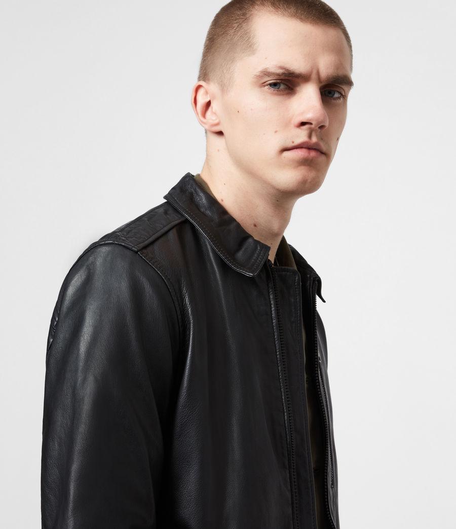 Men's Timo Leather Jacket (black) - Image 4