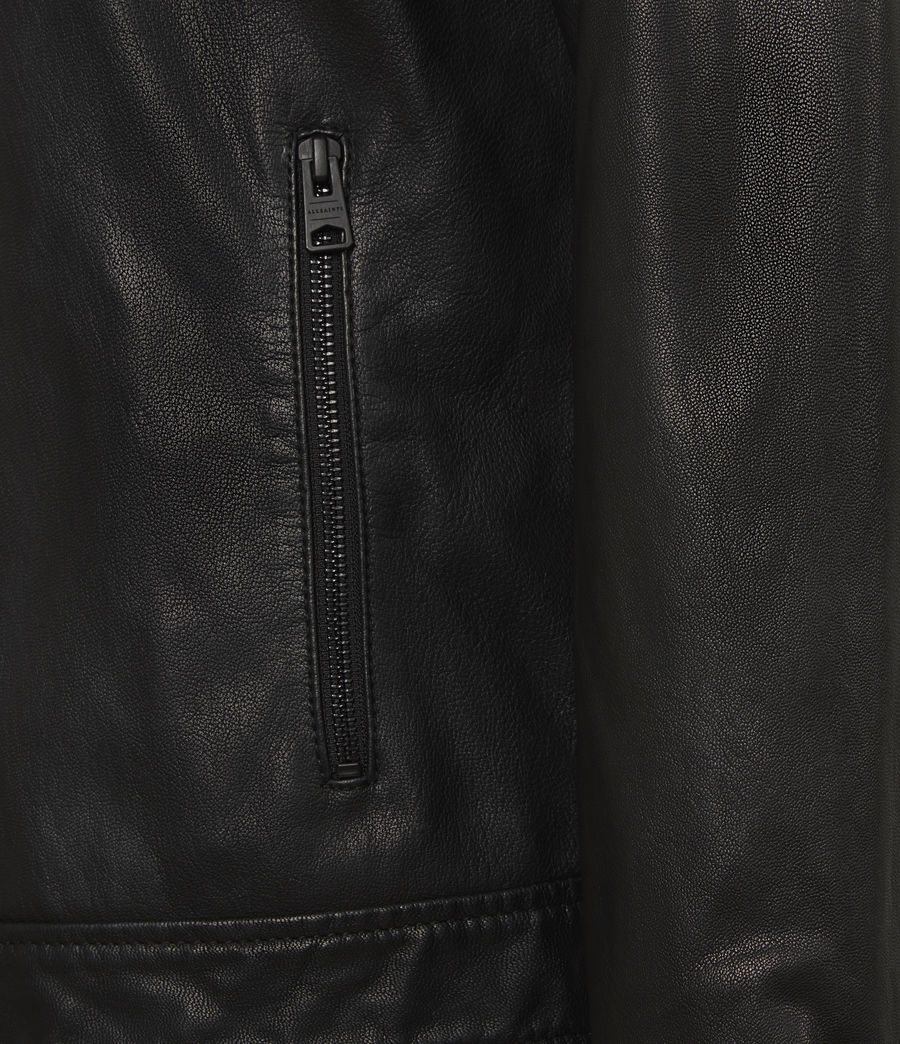 Men's Timo Leather Jacket (black) - Image 6