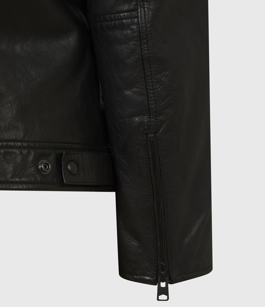 Men's Timo Leather Jacket (black) - Image 7
