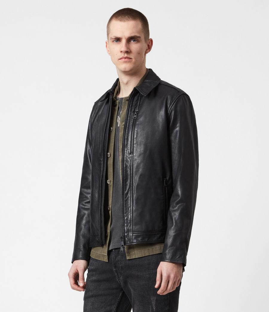 Men's Timo Leather Jacket (black) - Image 8