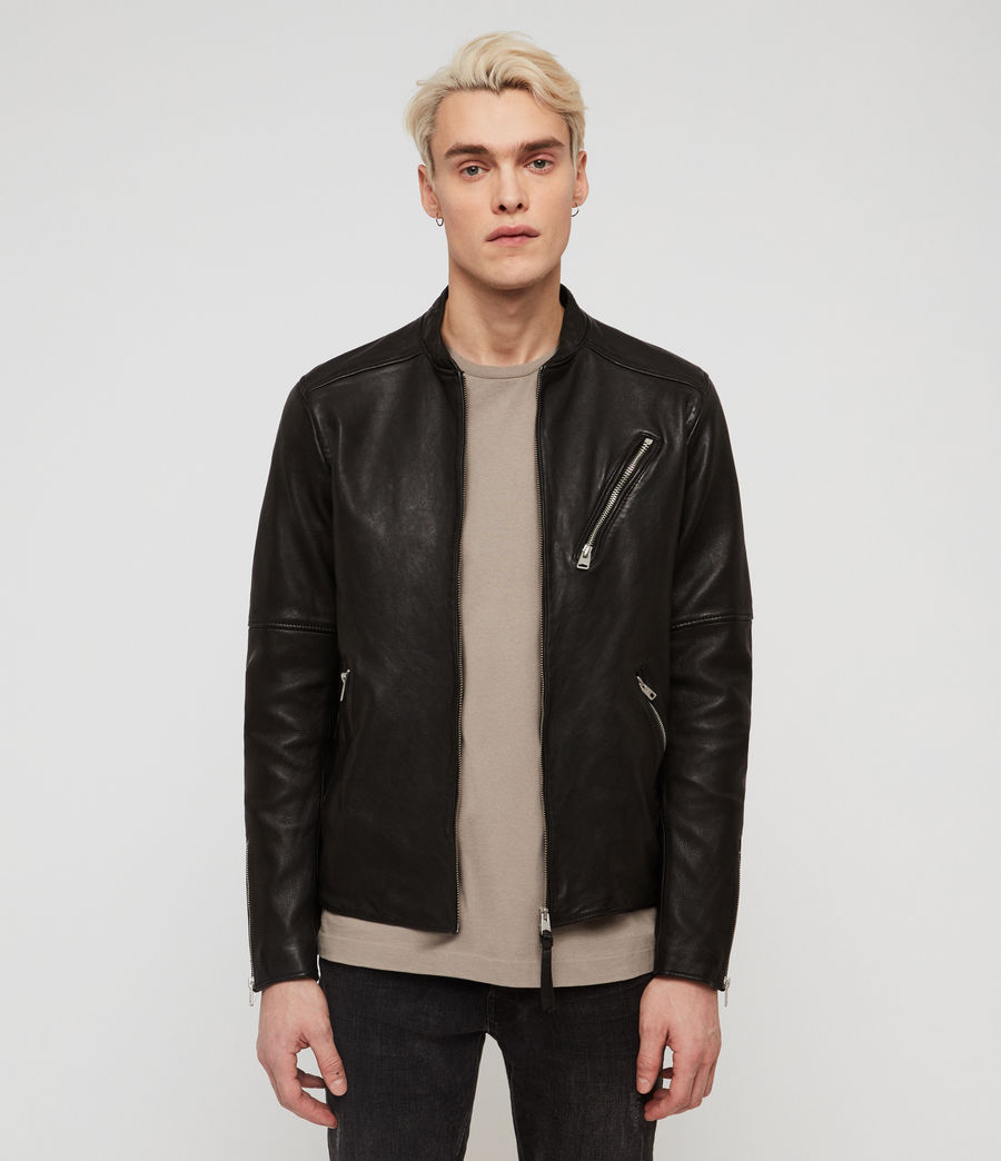 Mens Holbrooke Leather Jacket (black) - Image 1