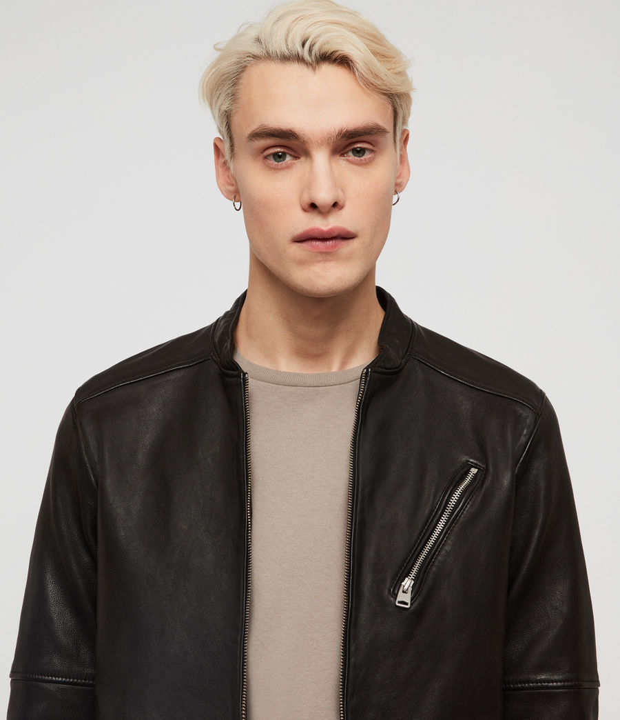 Men's Holbrooke Leather Jacket (black) - Image 2