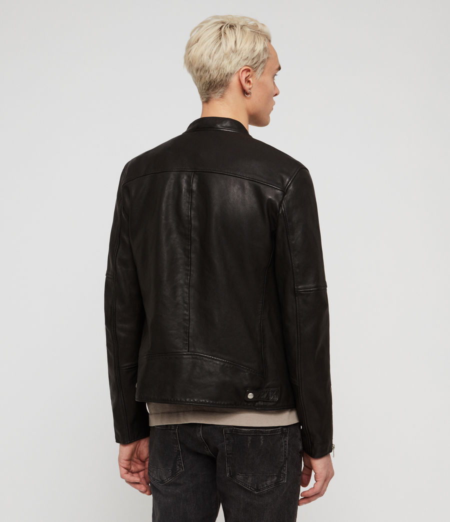Mens Holbrooke Leather Jacket (black) - Image 5