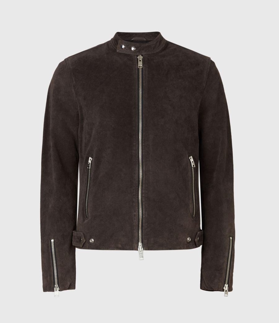 Mens Driver Suede Jacket (grey) - Image 2