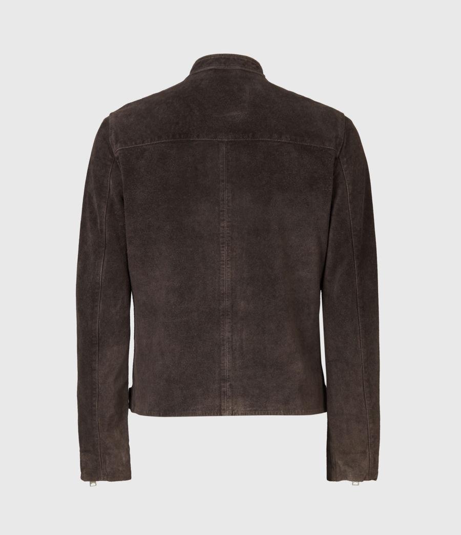 Mens Driver Suede Jacket (grey) - Image 3