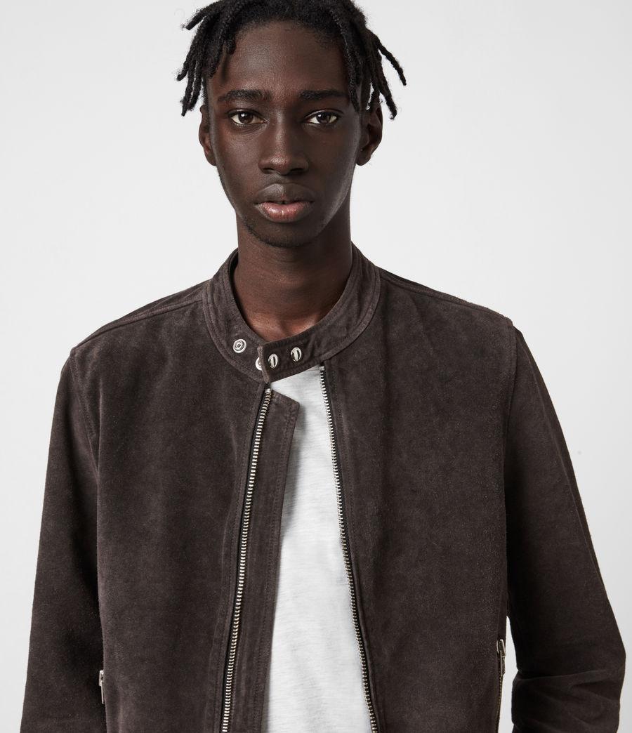 Mens Driver Suede Jacket (grey) - Image 4