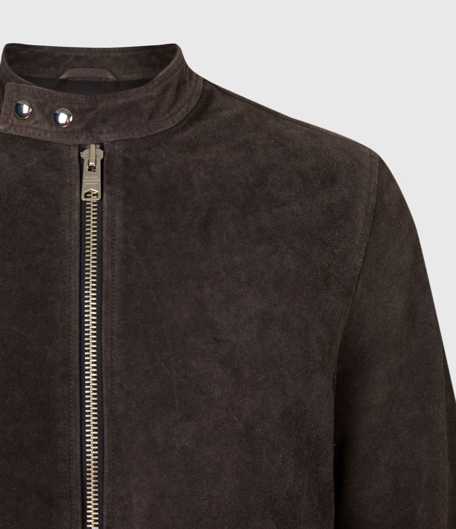Mens Driver Suede Jacket (grey) - Image 5