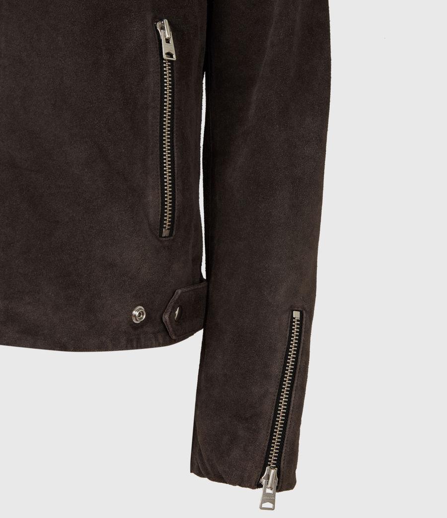 Mens Driver Suede Jacket (grey) - Image 6