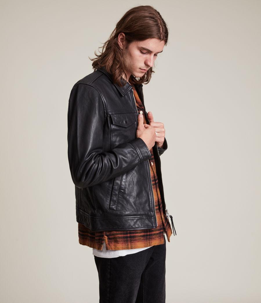Herren Allie Leather Jacket (black) - Image 2
