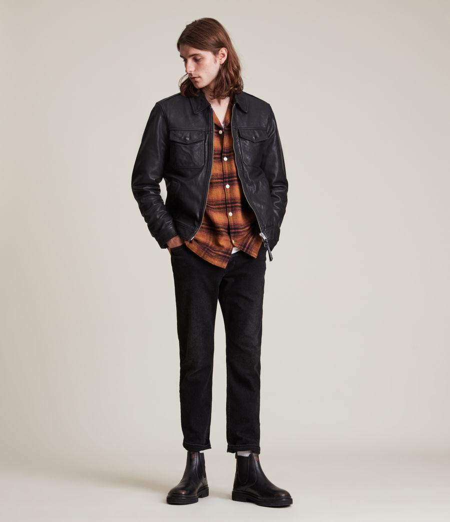 Herren Allie Leather Jacket (black) - Image 3