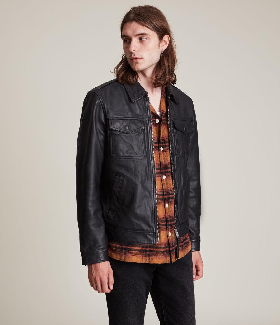 Herren Allie Leather Jacket (black) - Image 4