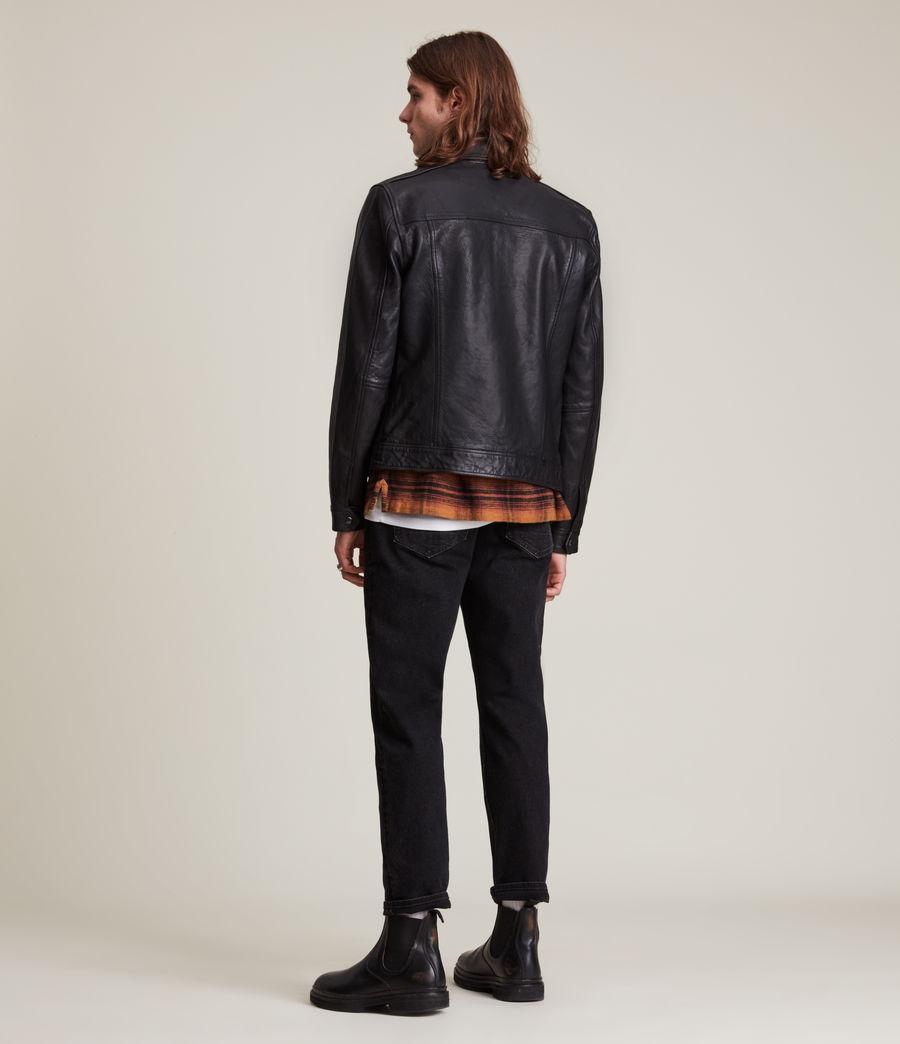 Herren Allie Leather Jacket (black) - Image 5