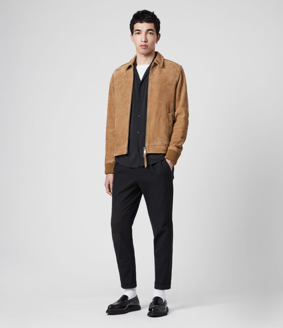 Men's Drant Suede Jacket (tan) - Image 1