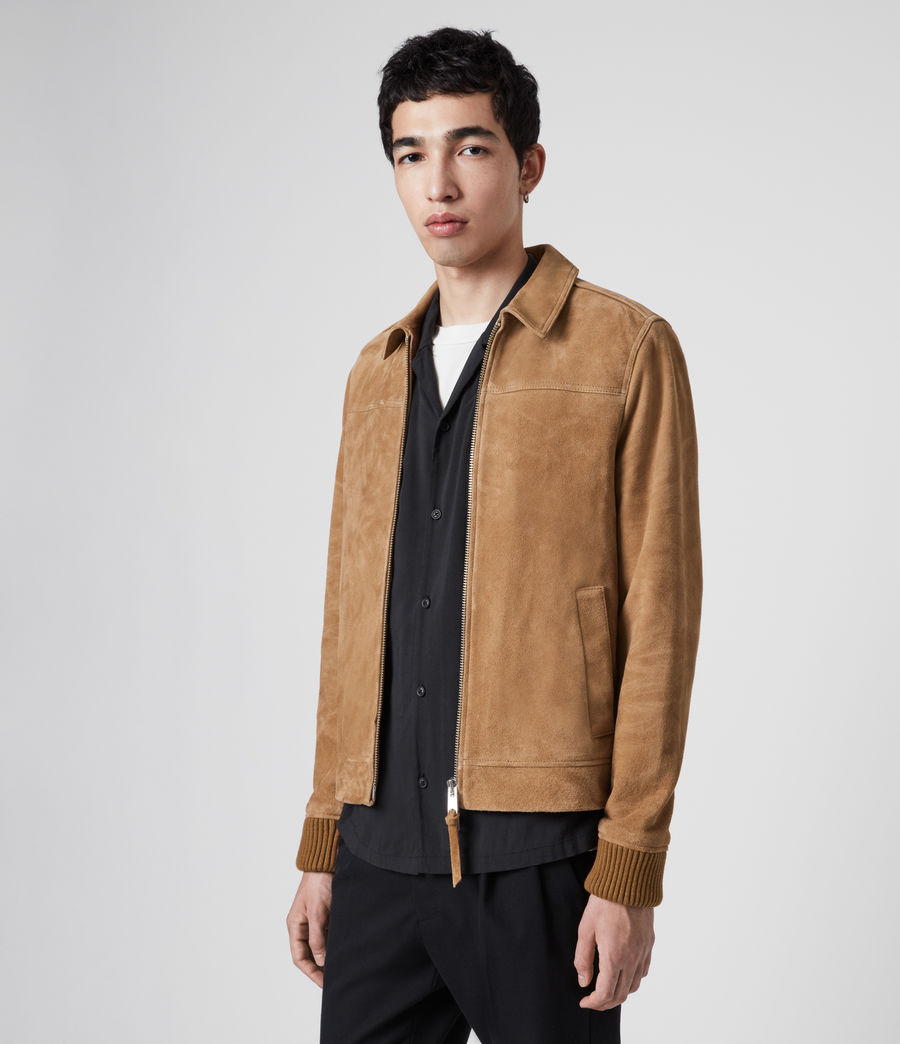 Men's Drant Suede Jacket (tan) - Image 2