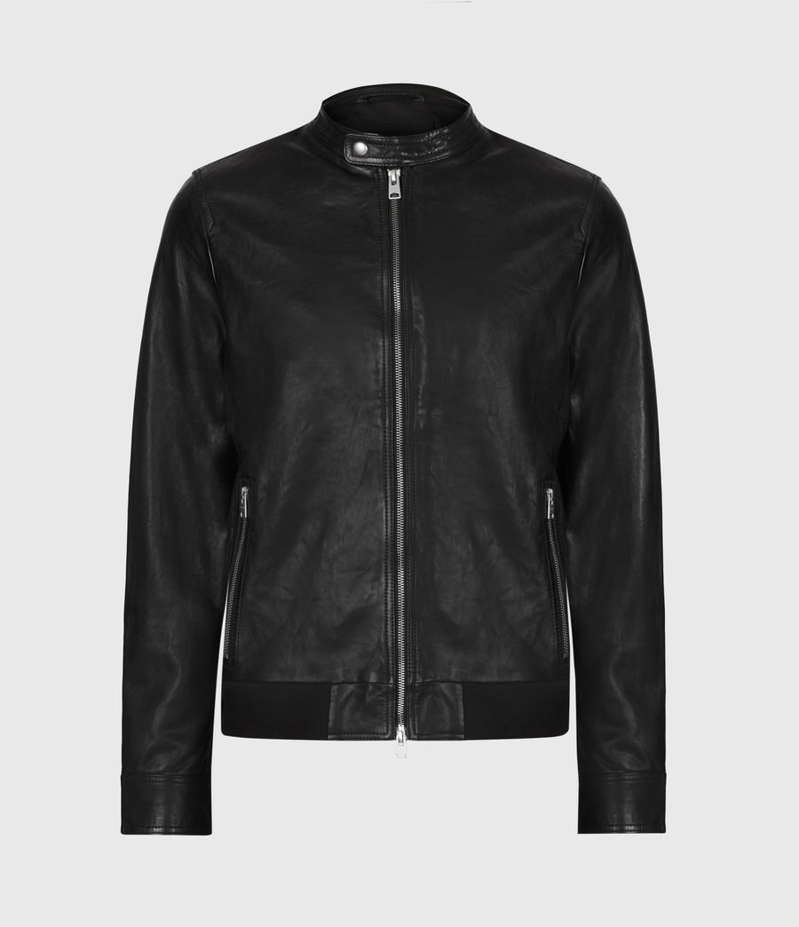 Men's Hopkin Leather Jacket (deep_grey) - Image 2