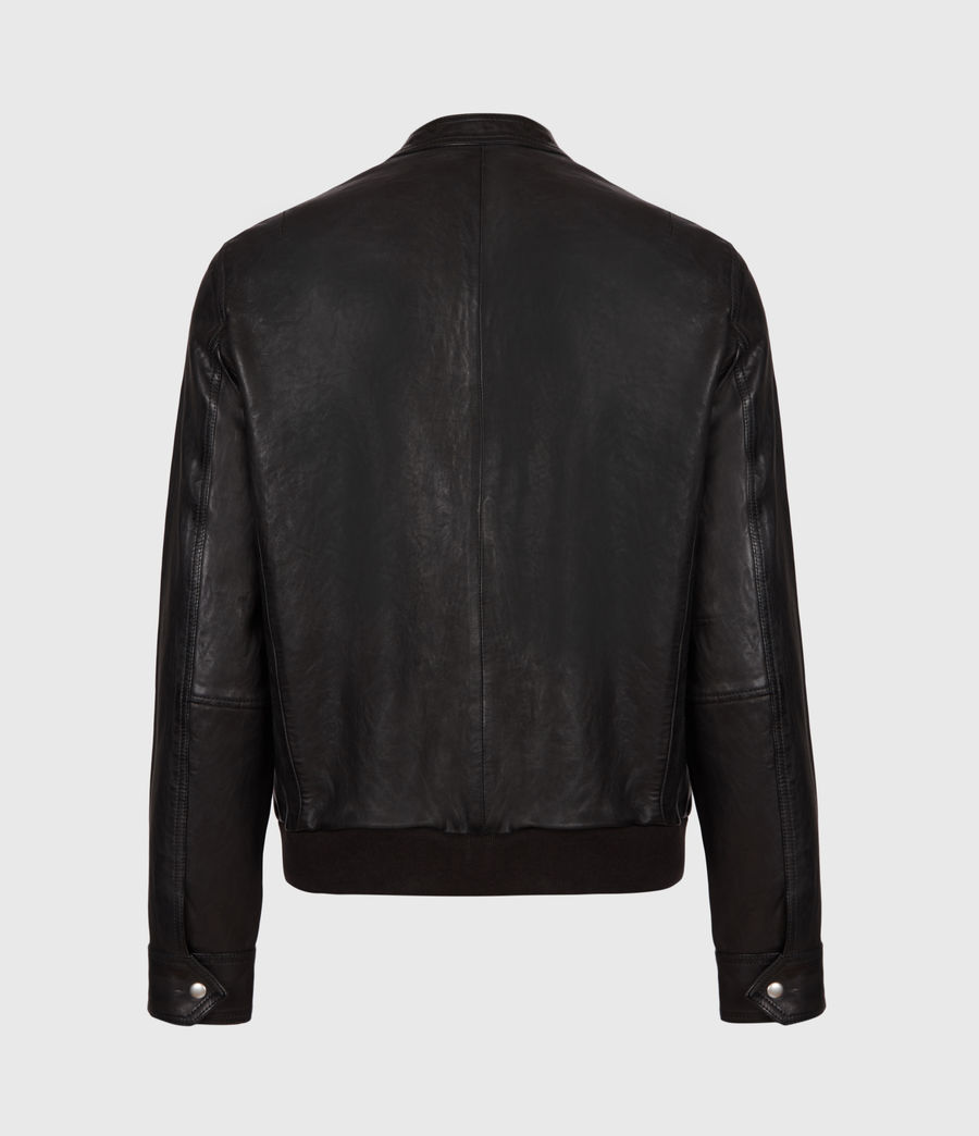 Men's Hopkin Leather Jacket (deep_grey) - Image 3