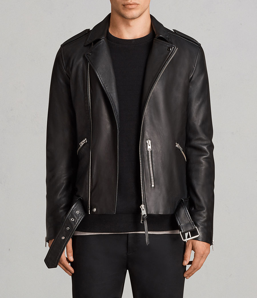 9d553bed71 ALLSAINTS US  Mens Kaho Leather Biker Jacket (black)
