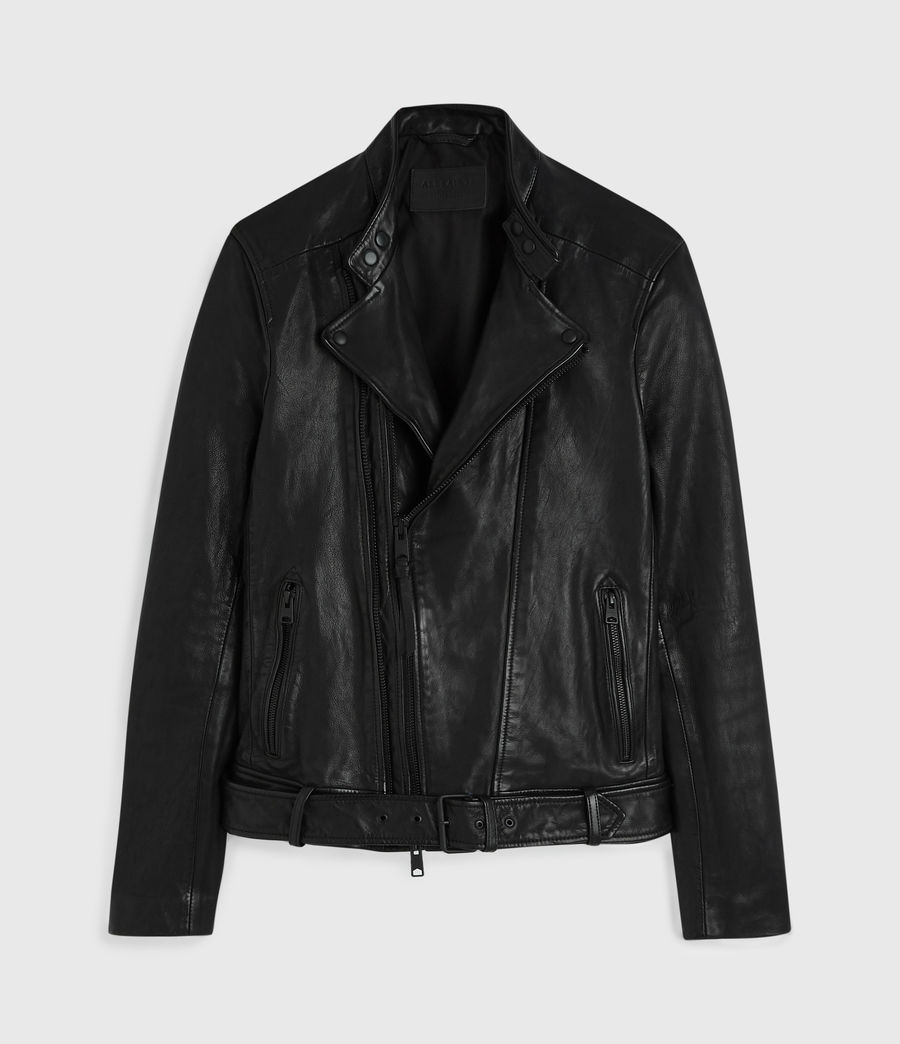Mens Northwick Leather Biker Jacket (black) - Image 6