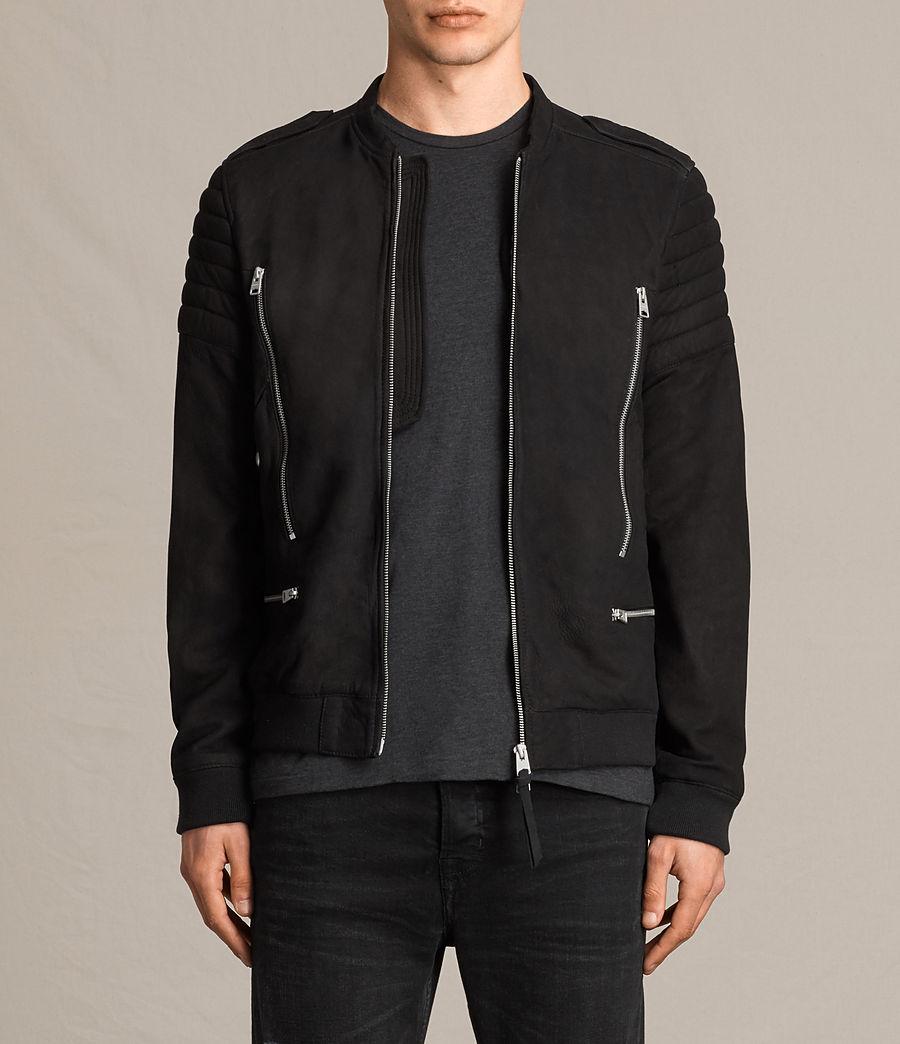 Herren Ren Suede Bomber Jacket (black) - Image 1