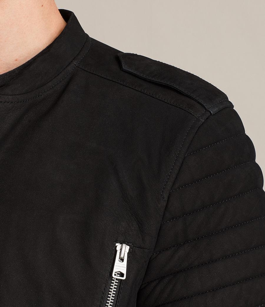 Herren Ren Suede Bomber Jacket (black) - Image 2
