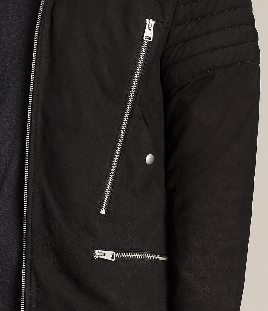 Herren Ren Suede Bomber Jacket (black) - Image 5