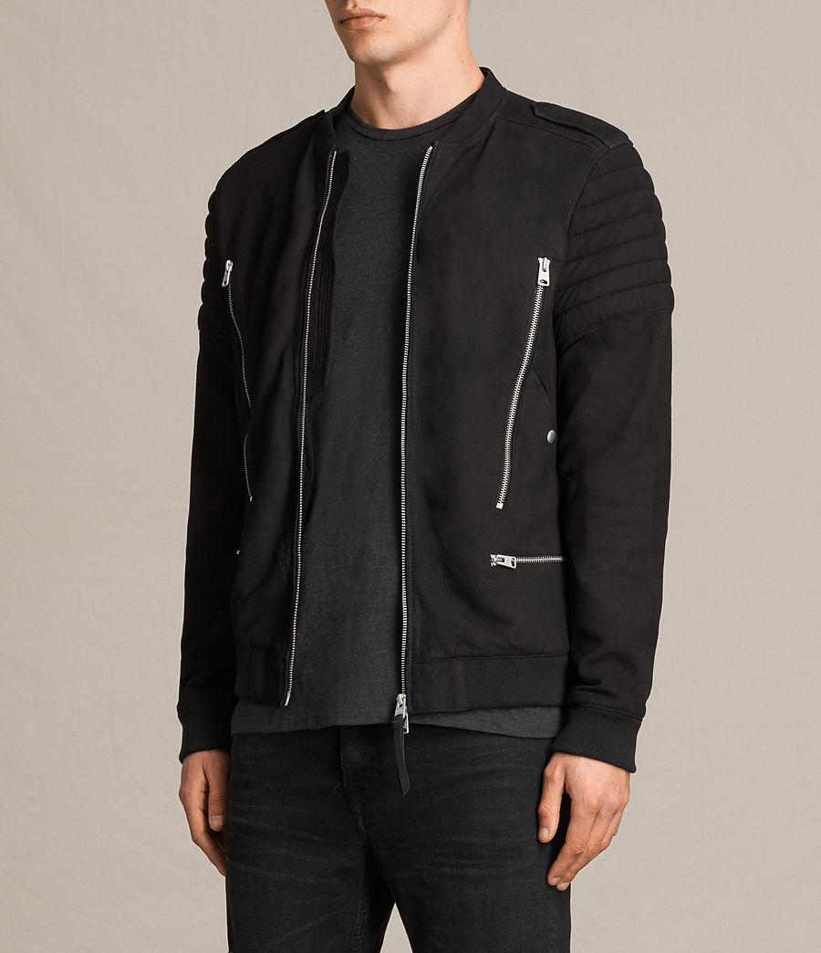 Herren Ren Suede Bomber Jacket (black) - Image 6
