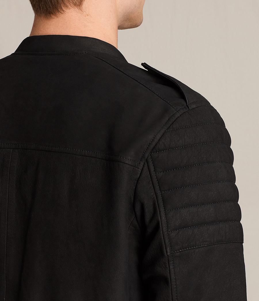 Herren Ren Suede Bomber Jacket (black) - Image 7
