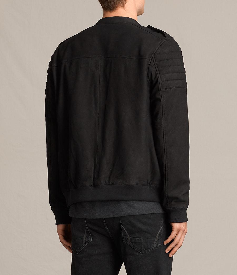 Herren Ren Suede Bomber Jacket (black) - Image 8