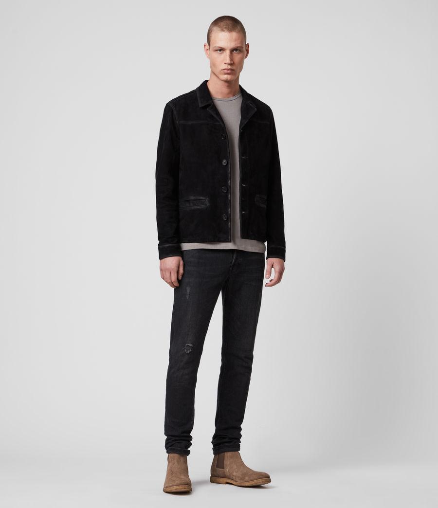 Men's Clifton Suede Jacket (black) - Image 3