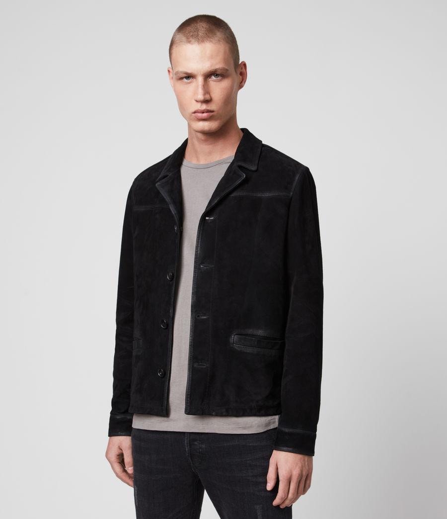 Men's Clifton Suede Jacket (black) - Image 4
