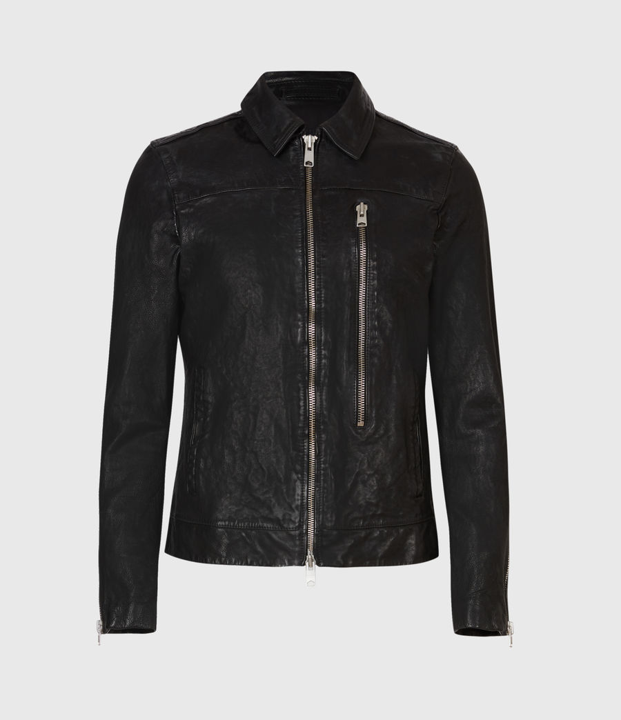 Hommes Veste en Cuir Swithin (black) - Image 2