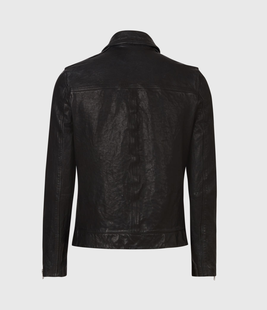 Hommes Veste en Cuir Swithin (black) - Image 3