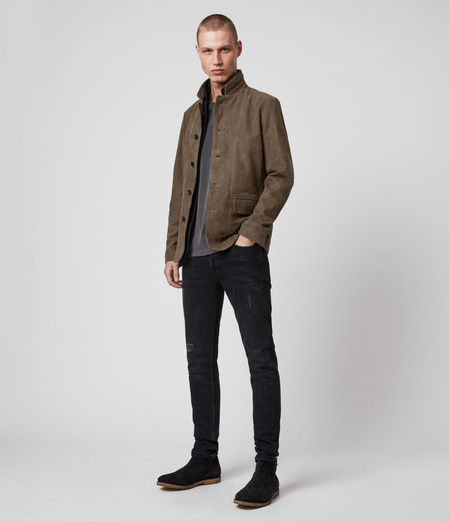 Men's Hopton Suede Blazer (light_taupe) - Image 1