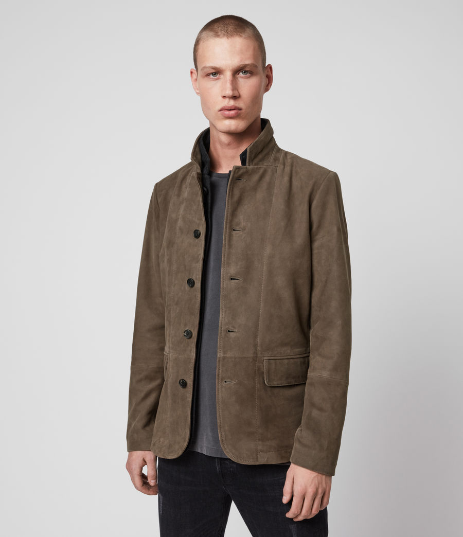 Men's Hopton Suede Blazer (light_taupe) - Image 2