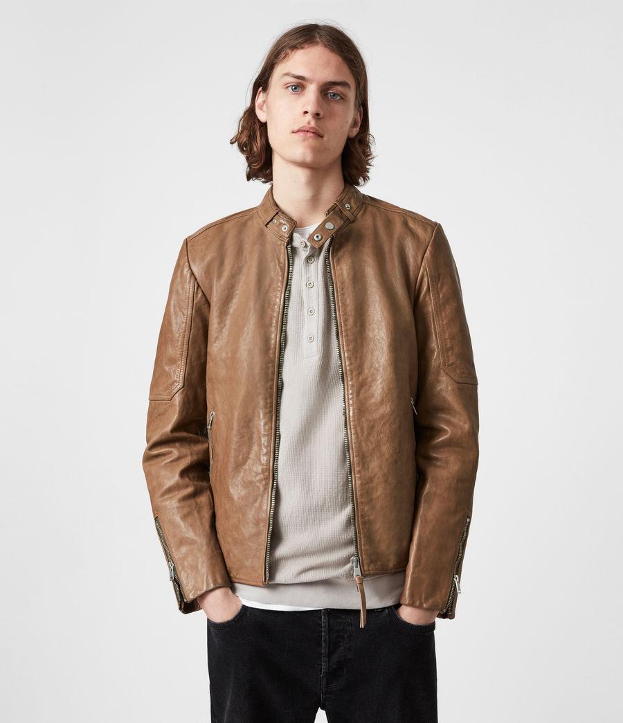 Herren Handel Leather Jacket (caenstone_brown) - Image 1
