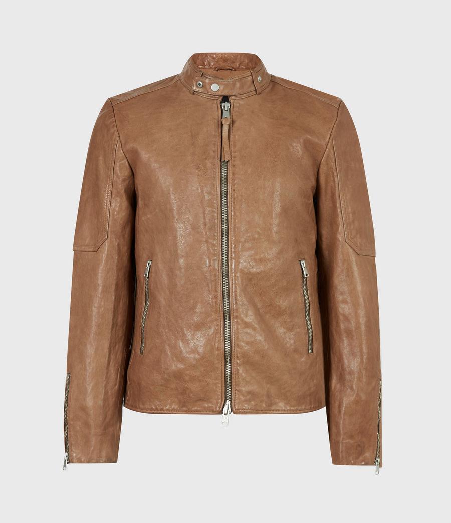 Herren Handel Leather Jacket (caenstone_brown) - Image 2