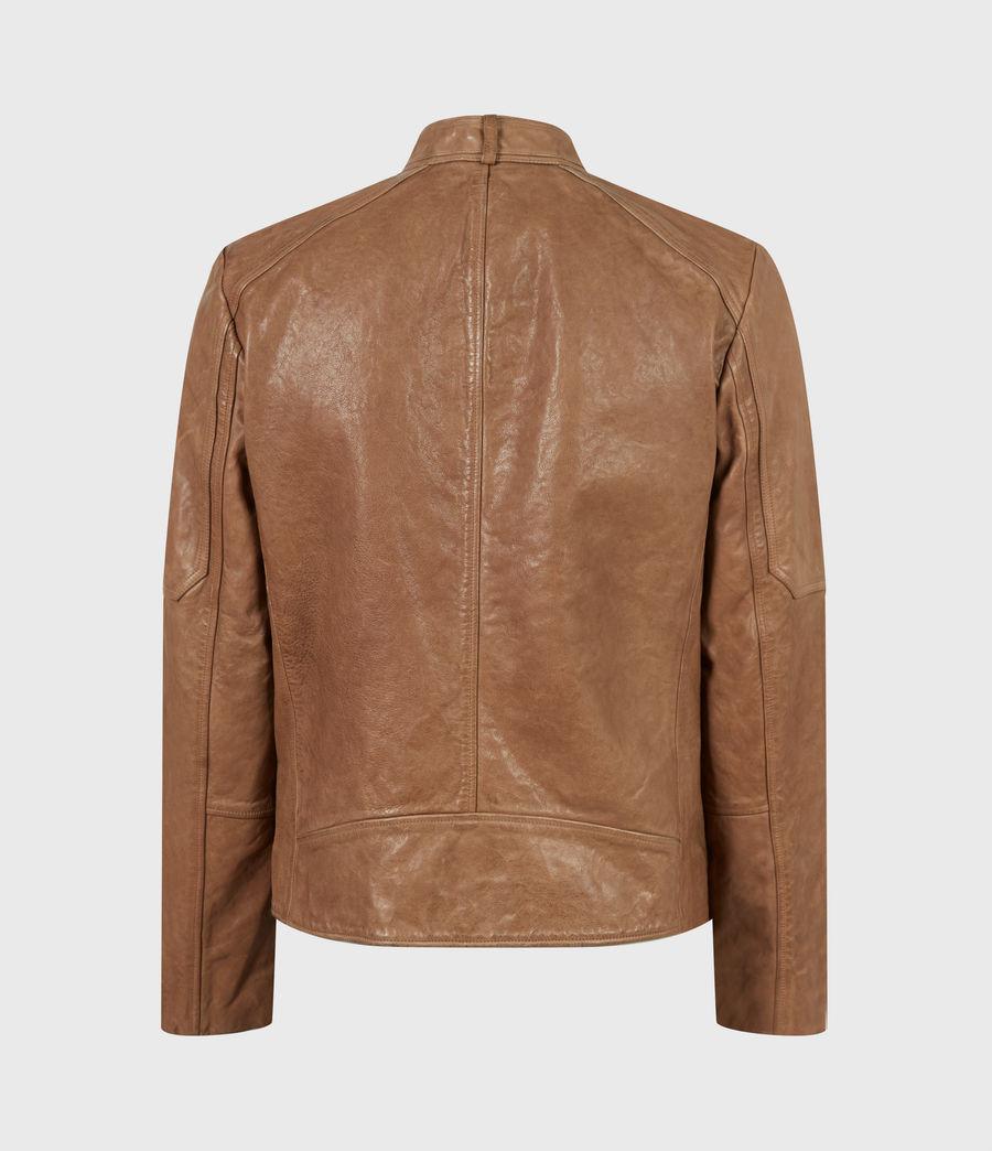 Herren Handel Leather Jacket (caenstone_brown) - Image 3