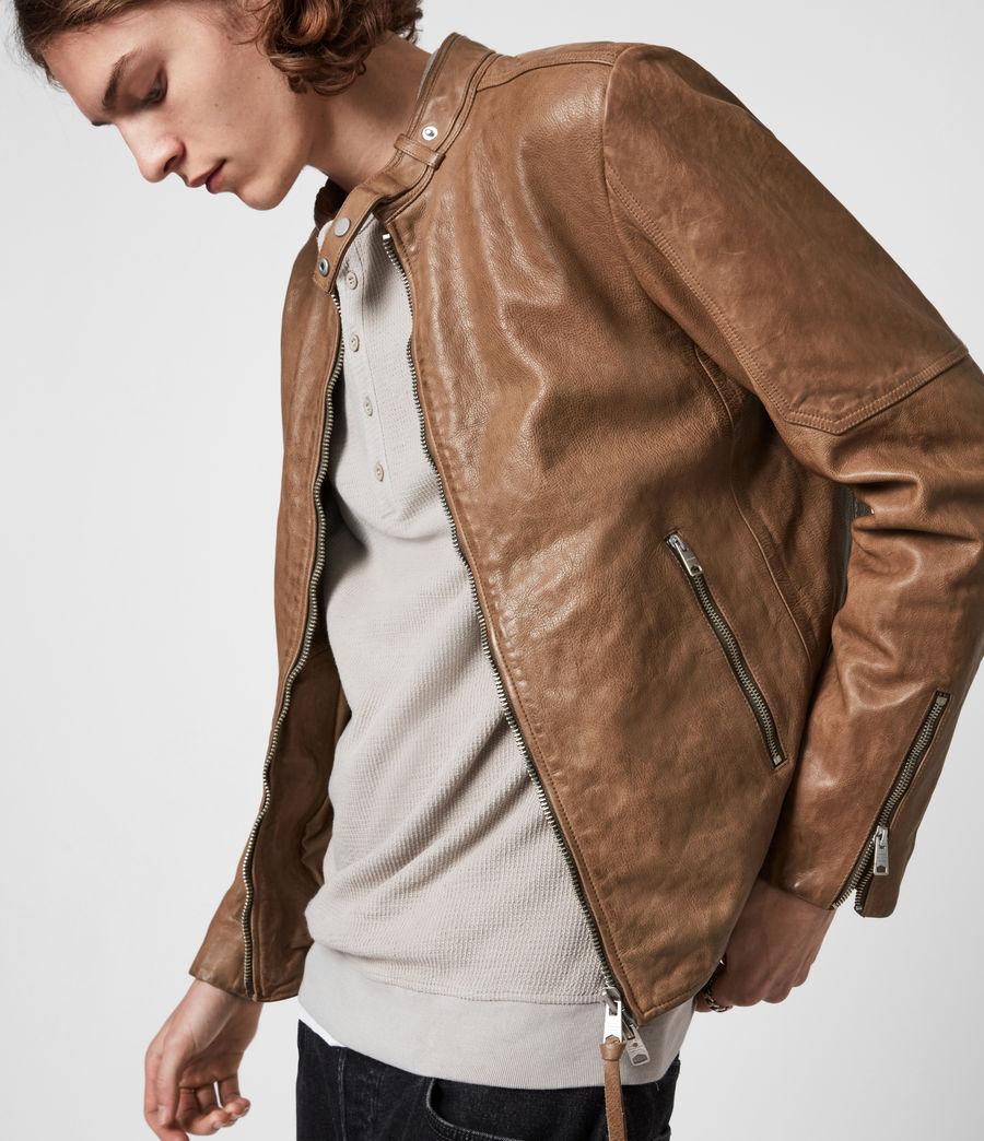 Herren Handel Leather Jacket (caenstone_brown) - Image 4