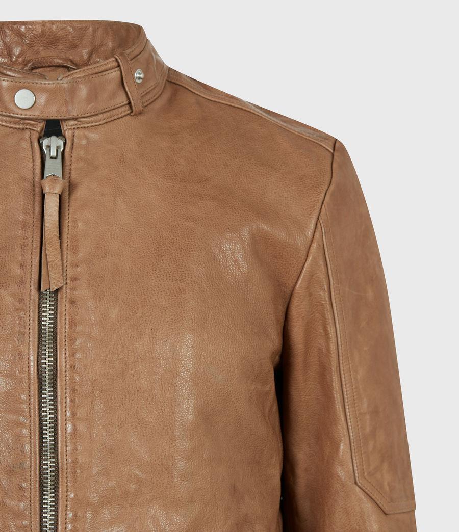 Herren Handel Leather Jacket (caenstone_brown) - Image 5