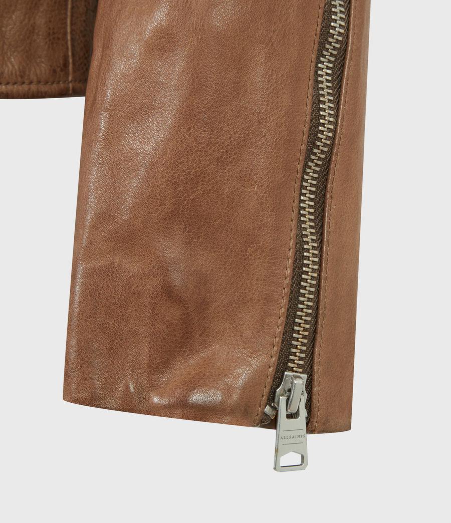Herren Handel Leather Jacket (caenstone_brown) - Image 6