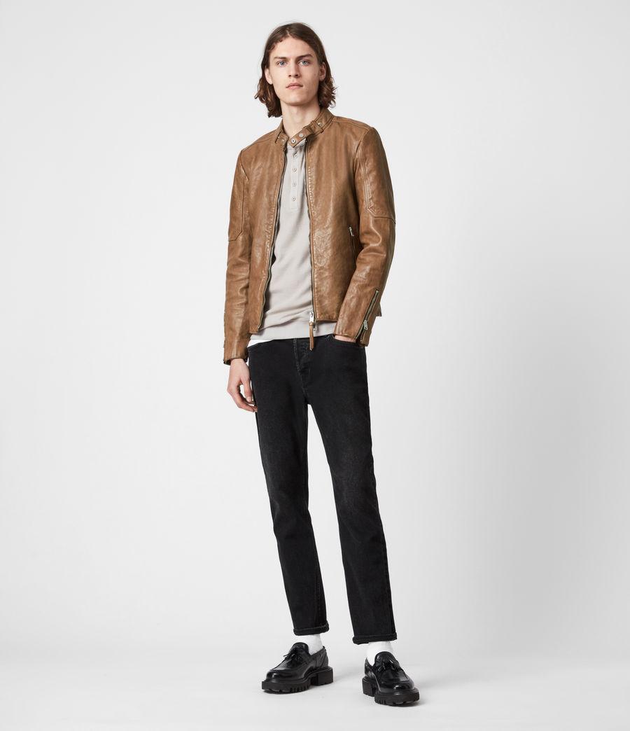Herren Handel Leather Jacket (caenstone_brown) - Image 7