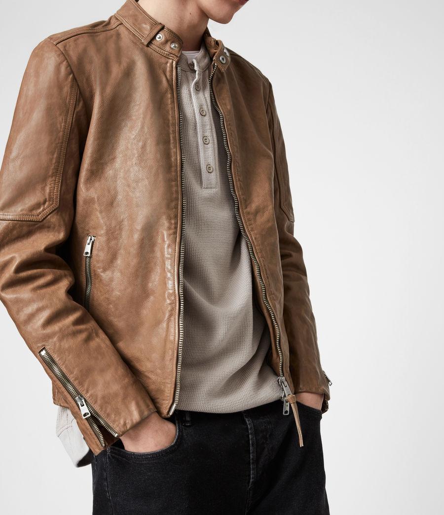 Herren Handel Leather Jacket (caenstone_brown) - Image 8