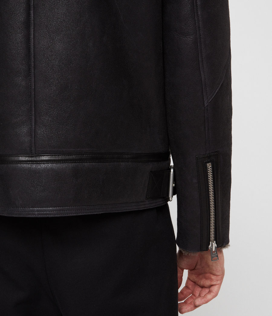Mens Lowell Shearling Jacket (black_slate_grey) - Image 6