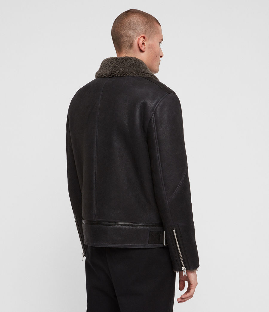 Mens Lowell Shearling Jacket (black_slate_grey) - Image 7