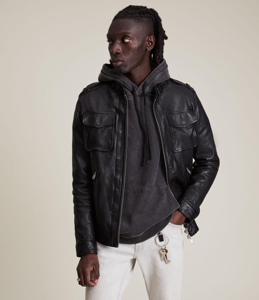 Men's Emmery Leather Jacket (jet_black) - Image 2
