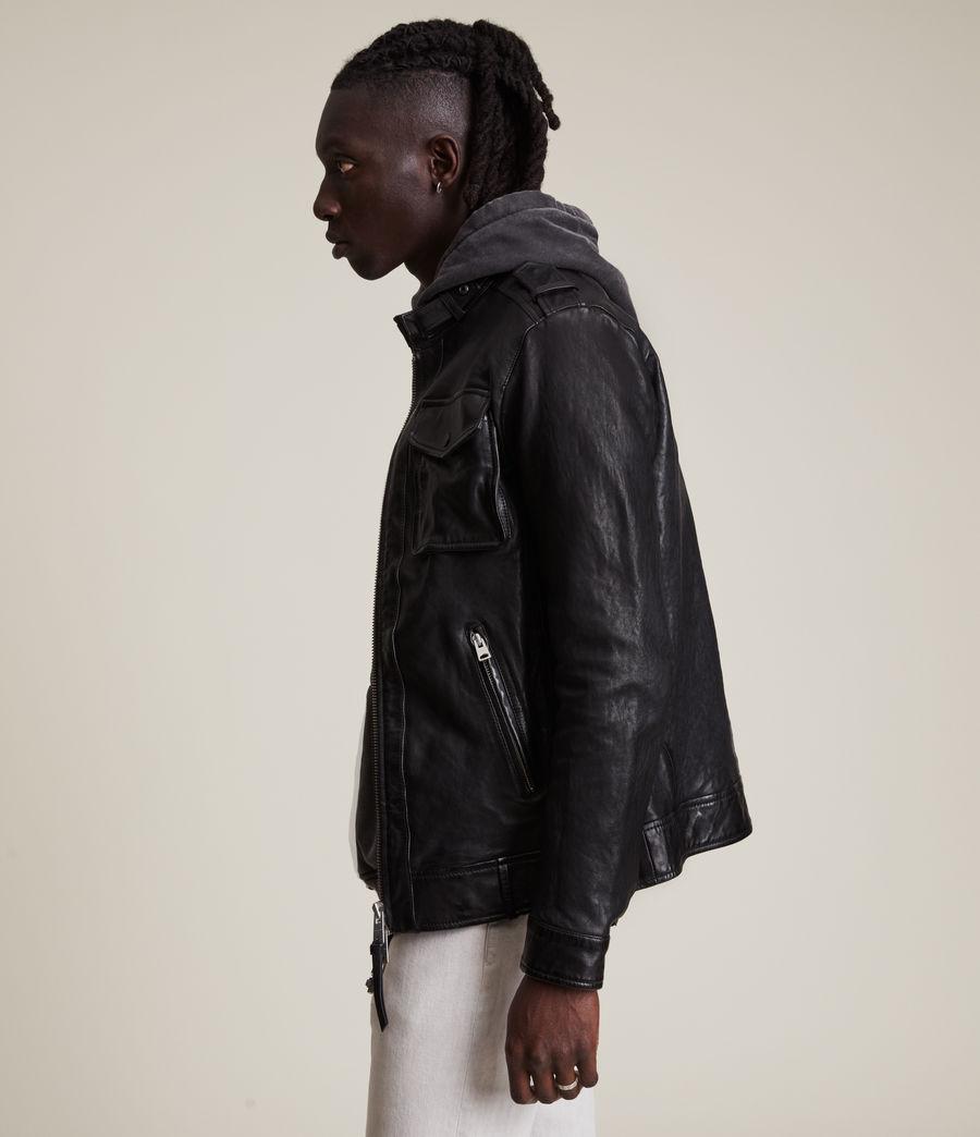 Men's Emmery Leather Jacket (jet_black) - Image 3